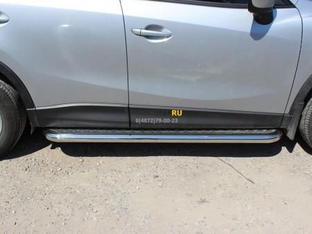 Mazda СX-5 2015-наст.вр.-Пороги c листом d-60